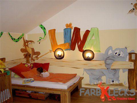 Wandmalerei for Kinderzimmer lina